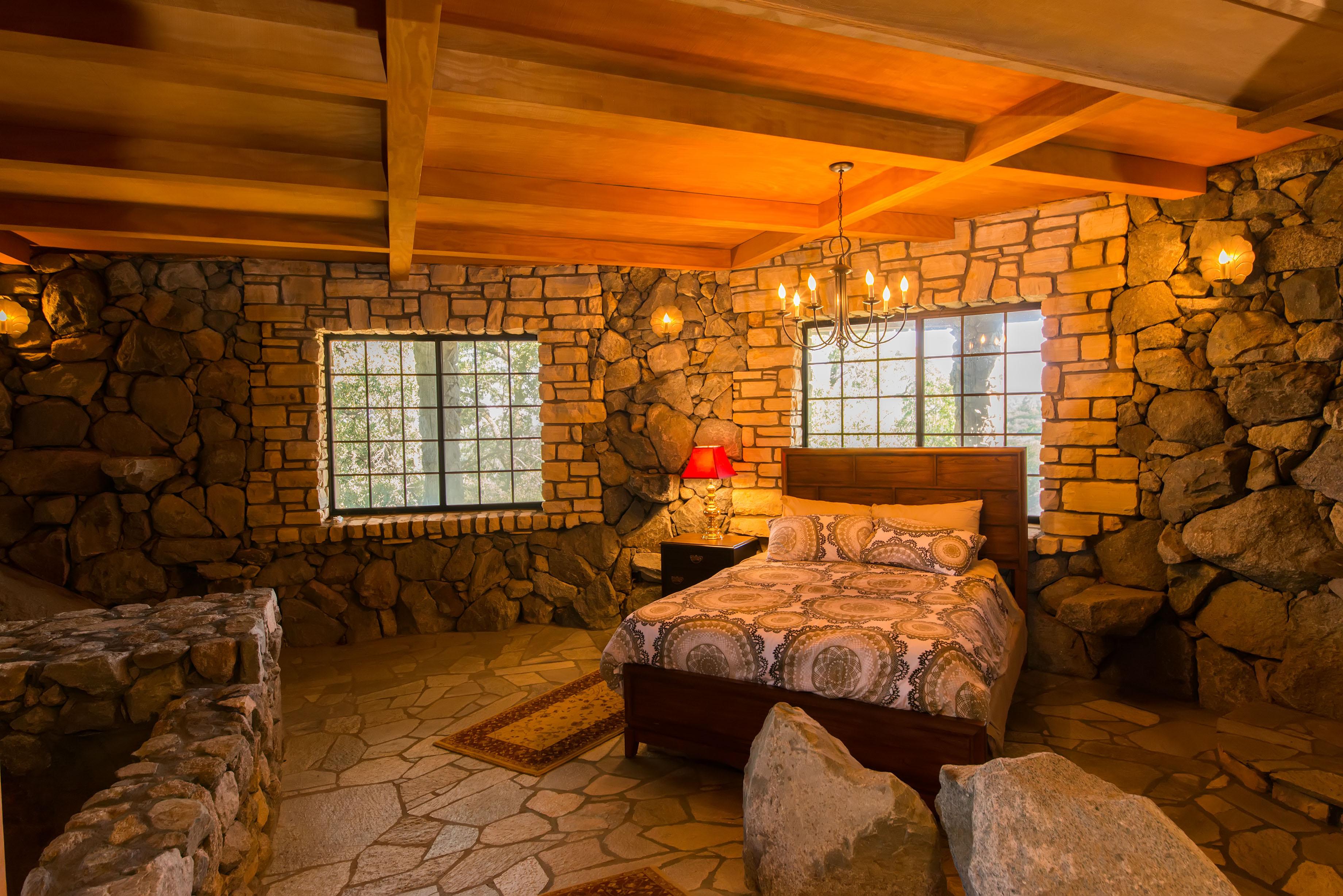 Rock Room Primitive Master Suite Alpine Castle